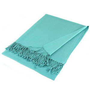 Wholesale Blue Solid Pashmina Scarf-GDP1405