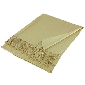 Wholesale Champagne Solid Pashmina Scarf-GDP1399