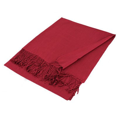 Wholesale Burgundy Solid Pashmina Scarf-GDP1397