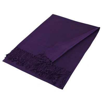 Wholesale Purple Solid Pashmina Scarf-GDP1385
