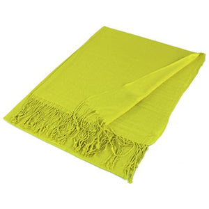 Wholesale Yellow Solid Pashmina Scarf-GDP1381