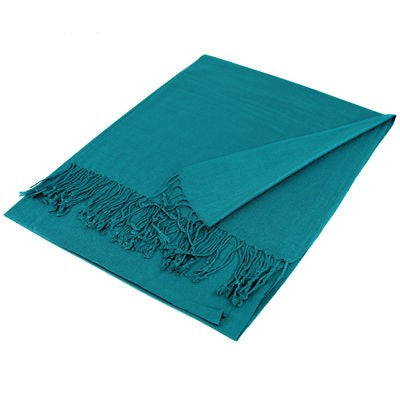 Wholesale Teal Solid Pashmina Scarf-GDP1375-In Bulk Pack