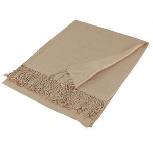 Wholesale Light Tan Solid Pashmina Scarf-GDP1373-In Bulk Pack