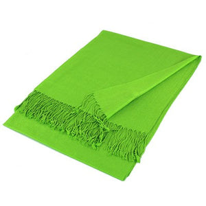 Wholesale Light Green Solid Pashmina Scarf-GDP1371-In Bulk Pack