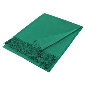 Wholesale Green Solid Pashmina Scarf-GDP1369-In Bulk Pack
