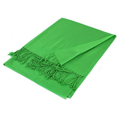 Wholesale Green Solid Pashmina Scarf-GDP1367-In Bulk Pack