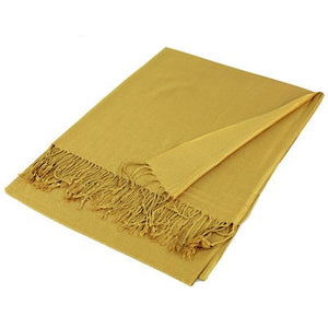 Wholesale Gold Solid Pashmina Scarf-GDP1365-In Bulk Pack