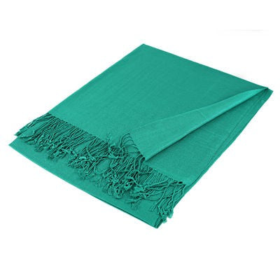 Wholesale Green Solid Pashmina Scarf-GDP1361-In Bulk Pack
