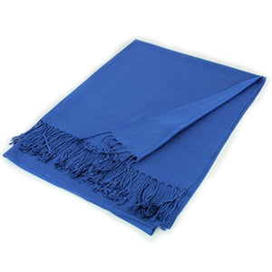 Wholesale Blue Solid Pashmina Scarf-GDP1363