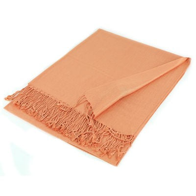 Wholesale Peach Solid Pashmina Scarf-GDP1357-In Bulk Pack