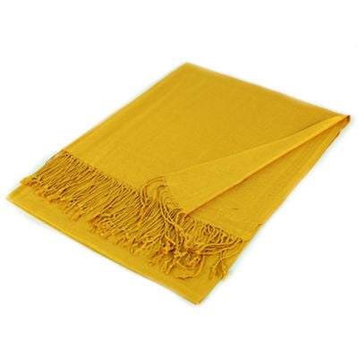 Wholesale Gold Solid Pashmina Scarf-GDP1355-In Bulk Pack
