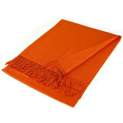 Wholesale Orange Solid Pashmina Scarf-GDP1353-In Bulk Pack