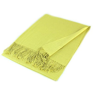 Wholesale Yellow Solid Pashmina Scarf-GDP1351-In Bulk Pack
