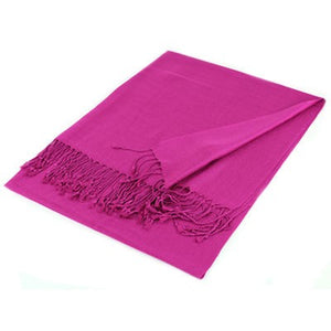Wholesale Hot Pink Solid Pashmina Scarf-GDP1349-In Bulk Pack