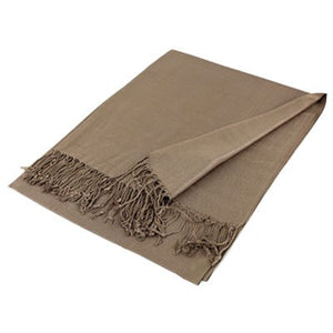 Wholesale Tan Solid Pashmina Scarf-GDP1347-In Bulk Pack
