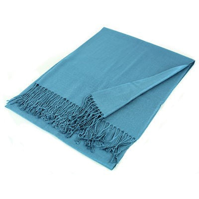 Wholesale Blue Solid Pashmina Scarf-GDP1345