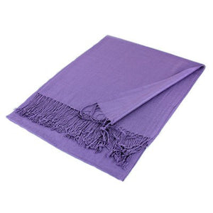 Wholesale Purple Solid Pashmina Scarf-GDP1343-In Bulk Pack