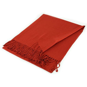 Wholesale Red Solid Pashmina Scarf-GDP1341