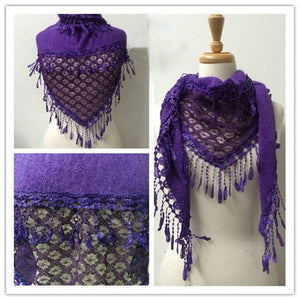 Wholesale Bulk Pack Lace Triangle Scarf Purple GDYH06-22