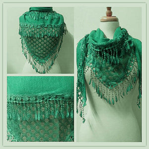 Wholesale Bulk Pack Lace Triangle Scarf Light Green GDYH06-23