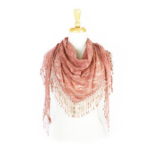 Wholesale Bulk Pack Lace Triangle Scarf -Pink GDYH26-11
