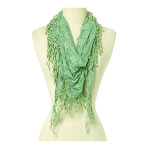 Wholesale Bulk Pack Lace Triangle Scarf -Green GDYH26-21
