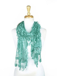 Wholesale Bulk Pack Lace Scarf L. Blue GDYH30-23