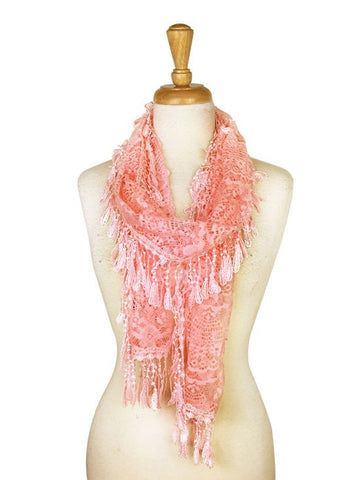 Wholesale Bulk Pack Lace Scarf Pink GDYH30-50