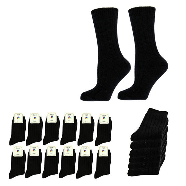 Wholesale Bulk Pack 12pack Wool Blend Warm Crew Women Socks-GDP744