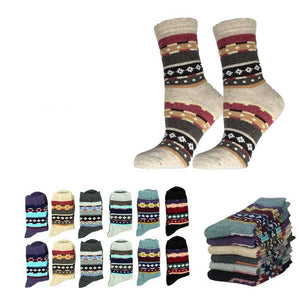Wholesale Bulk Pack 12pack Wool Blend Warm Crew Women Socks-GDP728