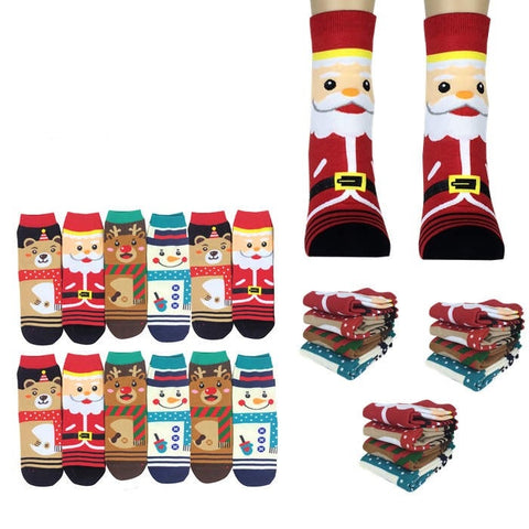 Wholesale Bulk Pack 12pack Women's Cute Art Cartoon Colorful Casual Crew Cotton Animal Socks-GDP708