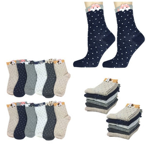 Wholesale Bulk Pack 12pack Women's Cute Art Cartoon Colorful Casual Crew Cotton Animal Socks-GDP674