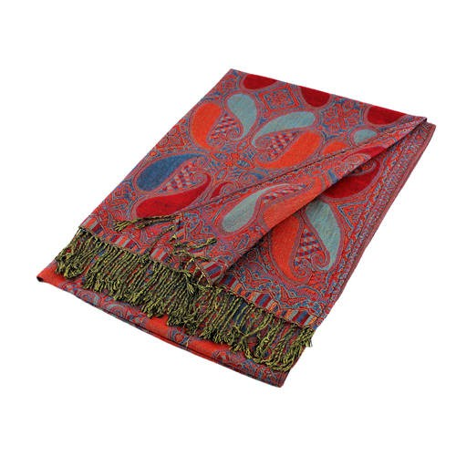 Wholesale Red Blue Paisley Pashmina Scarf-GDP1533