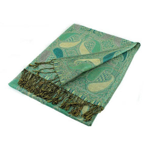 Wholesale Green Paisley Pashmina Scarf-GDP1531