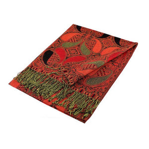 Wholesale Black Red Paisley Pashmina Scarf-GDP1525