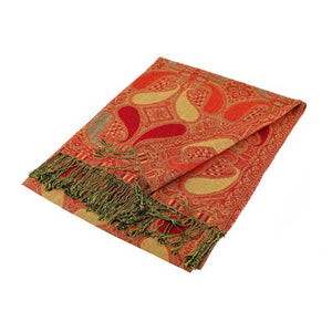 Wholesale Red Paisley Pashmina Scarf-GDP1521