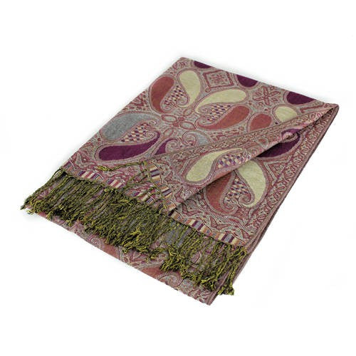 Wholesale Purple Paisley Pashmina Scarf-GDP1497