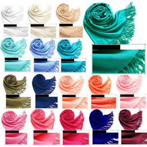 Wholesale Bulk Pack Pashmina 12-pack Assorted Colors-GDP1541