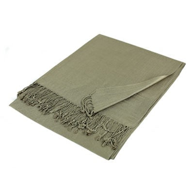 Wholesale Light Khaki Solid Pashmina Scarf-GDP1439