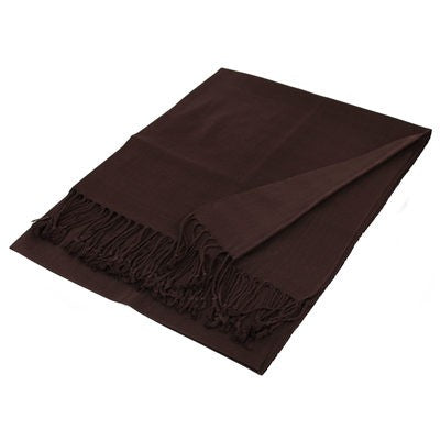 Wholesale Coffee Solid Pashmina Scarf-GDP1435