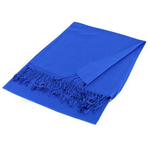 Wholesale Royal Blue Solid Pashmina Scarf-GDP1431