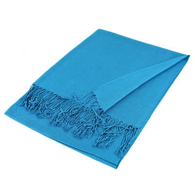 Wholesale Turquoise Blue Solid Pashmina Scarf-GDP1429