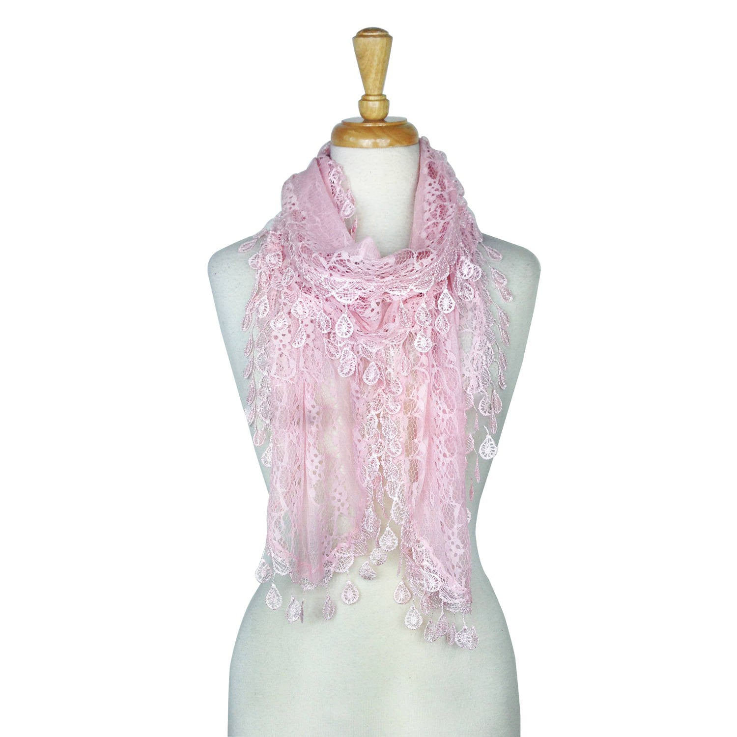 Wholesale Bulk Pack Lace scarf Pink-GDP3737