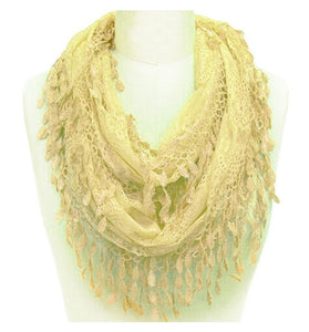 Wholesale Bulk Pack Wholesale Lace Infinity Scarf  GDH15-49