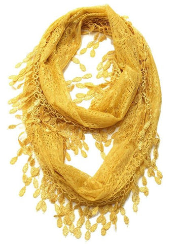 Wholesale Bulk Pack Lace Infinity Scarf Gold  GDH15-58