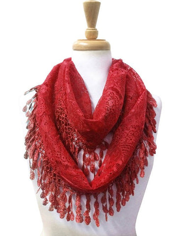 Wholesale Bulk Pack Wholesale Lace Infinity Scarf GDH15-64