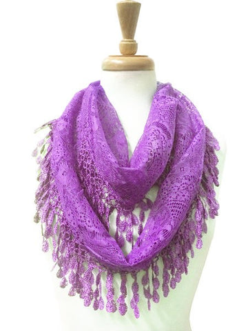 Wholesale Bulk Pack Wholesale Lace Infinity Scarf GDH15-68