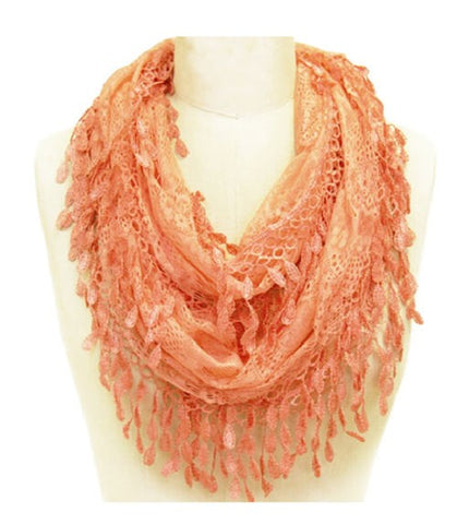 Wholesale Bulk Pack Wholesale Lace Infinity Scarf GDH15-82
