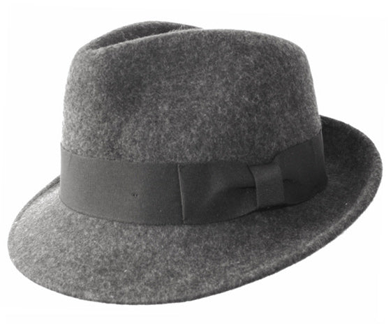 Wholesale Bulk Pack Wool Felt Fedora Hats With Grosgrain Band-GDP3541