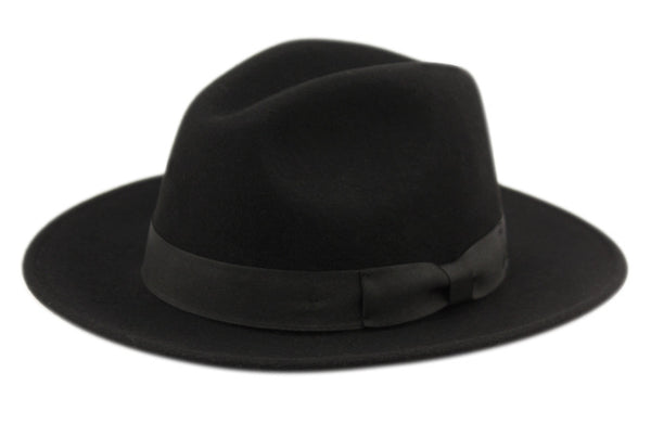 Wool Felt Fedora Hats With Grosgrain Band-GDP3527
